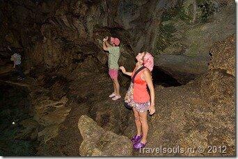 Пещера Hinangdanan Cave, Филиппины, подземное озеро