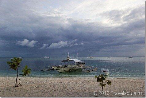 Филиппины, грозовое небо, красивое море