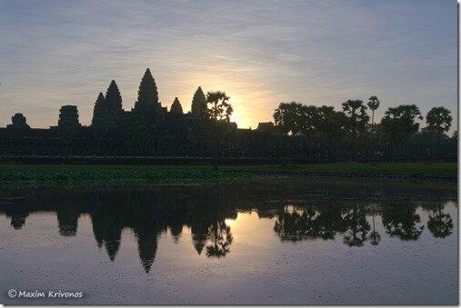 Камбоджия, Сием-Реап, ангкор ват, рассвет